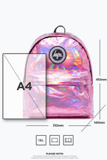 HYPE PINK HOLOGRAPHIC BACKPACK