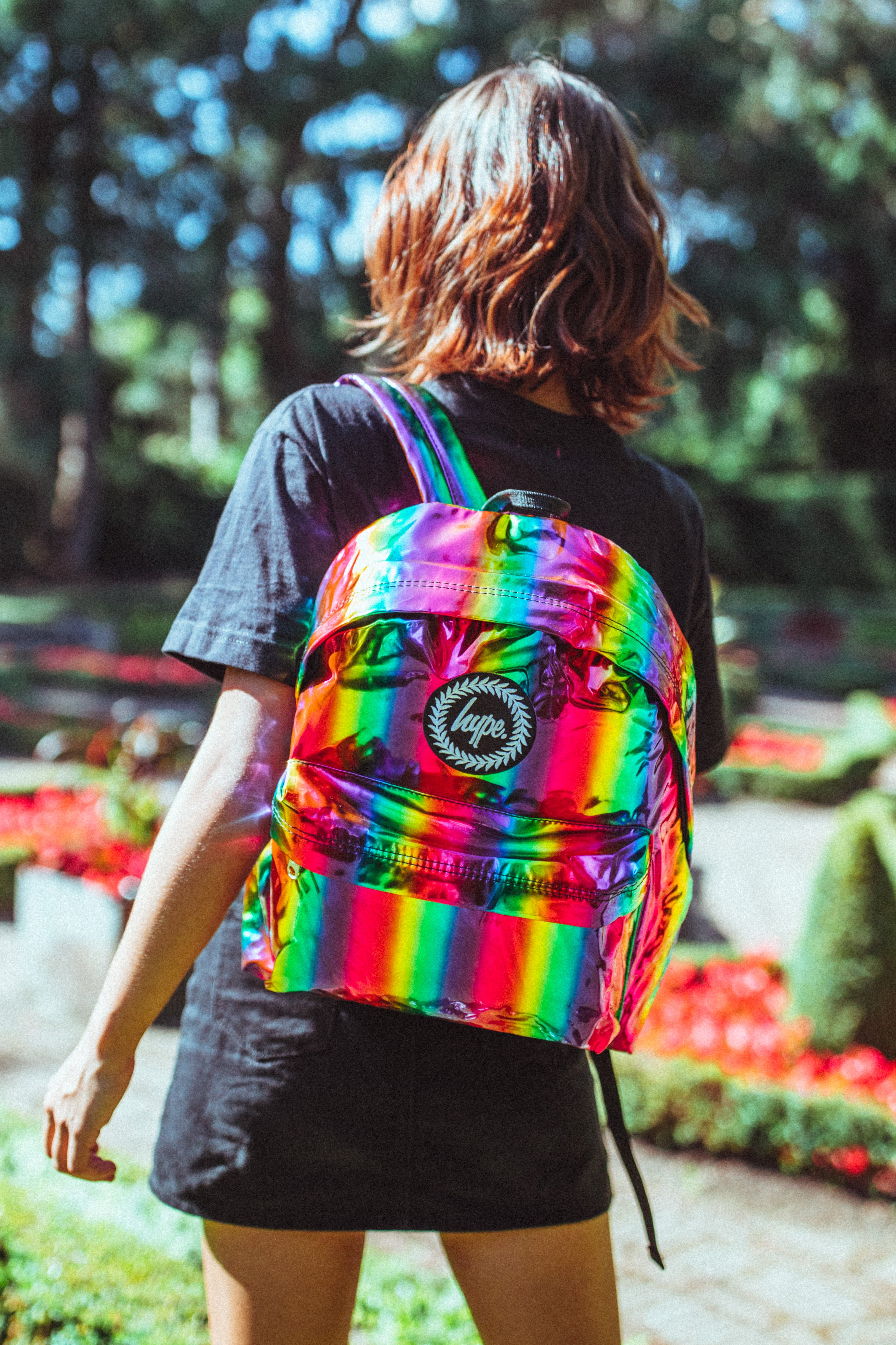 Cases & Bags Hype Rainbow Holographic Multi Backpack School Bag