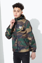 HYPE CAMO CORE KIDS RUNNER JACKET