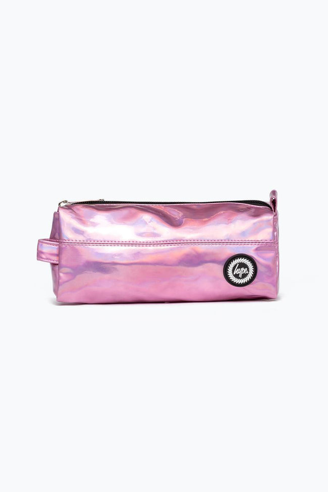 HYPE PINK HOLOGRAPHIC PENCIL CASE
