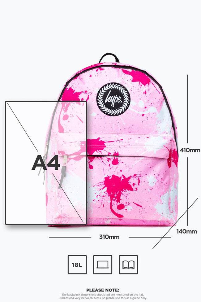 HYPE PINK SPLATTER BACKPACK