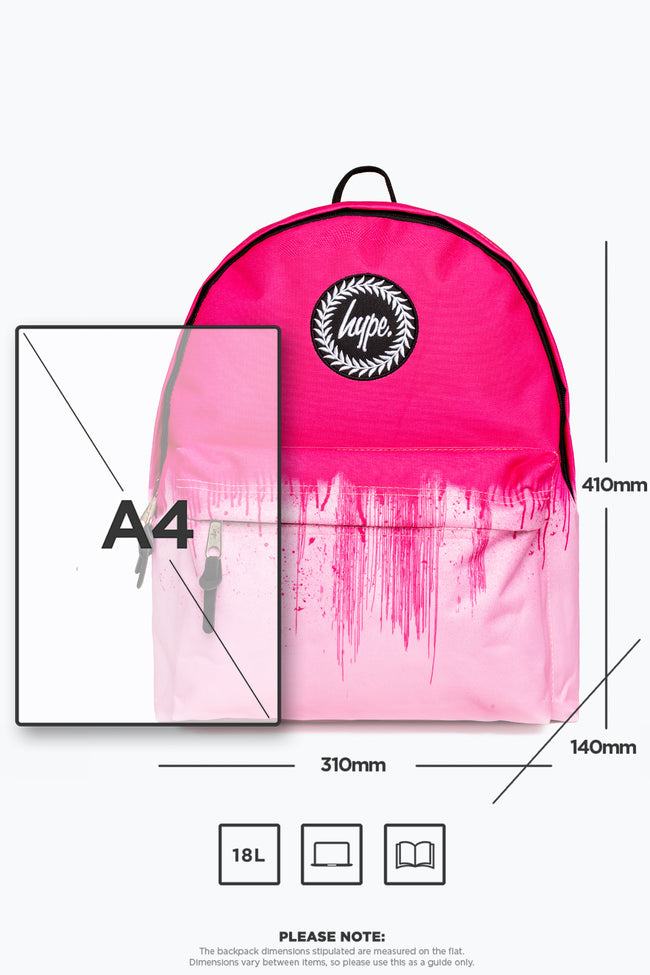 HYPE PINK DRIPS BACKPACK