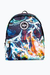 HYPE BLACK MARBLED BACKPACK