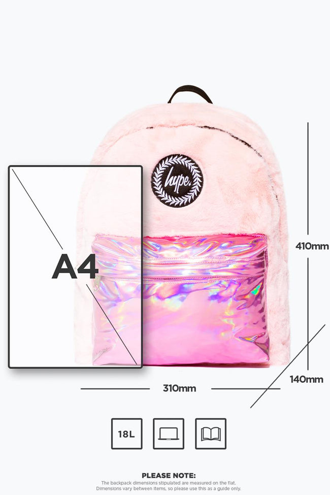 HYPE FUR HOLOGRAPHIC BACKPACK