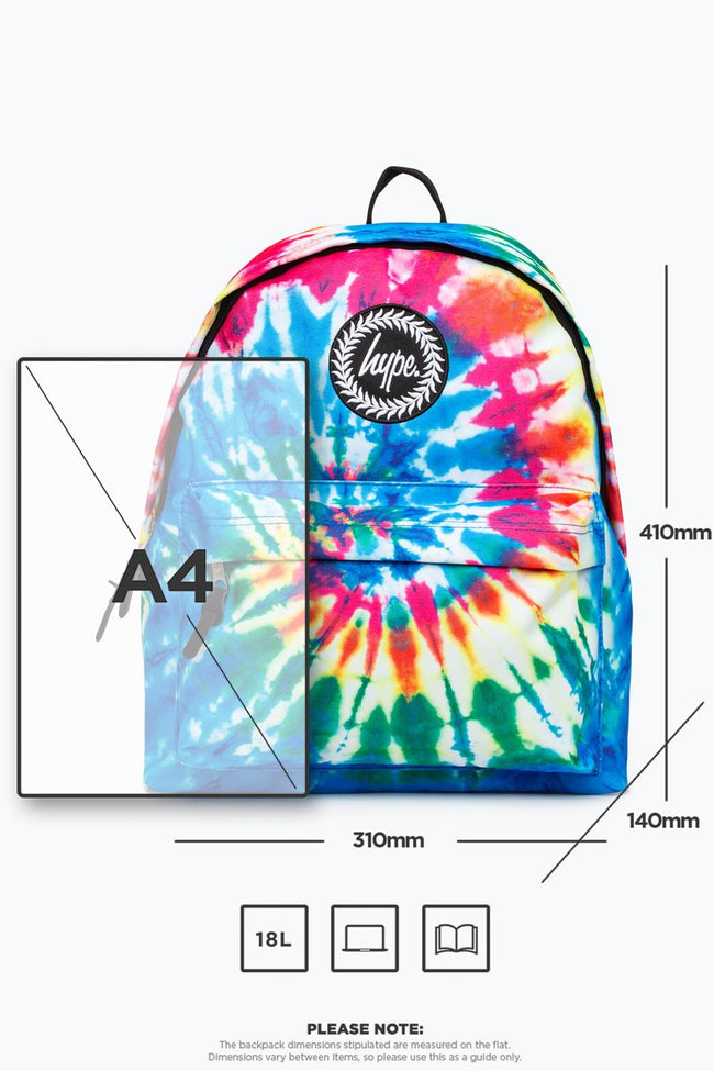 HYPE MULTI TIE DYE BACKPACK