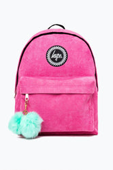 HYPE PINK CORDUROY BACKPACK