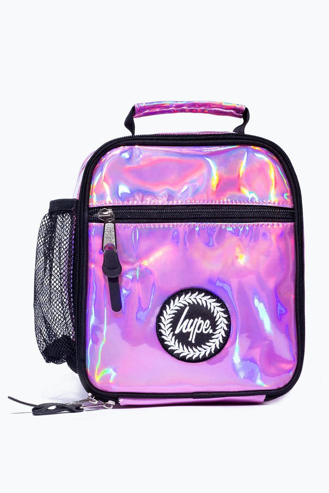 HYPE PINK HOLOGRAPHIC LUNCH BOX