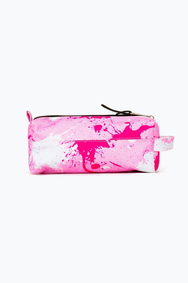 HYPE PINK LARGE SPLATTER PENCIL CASE