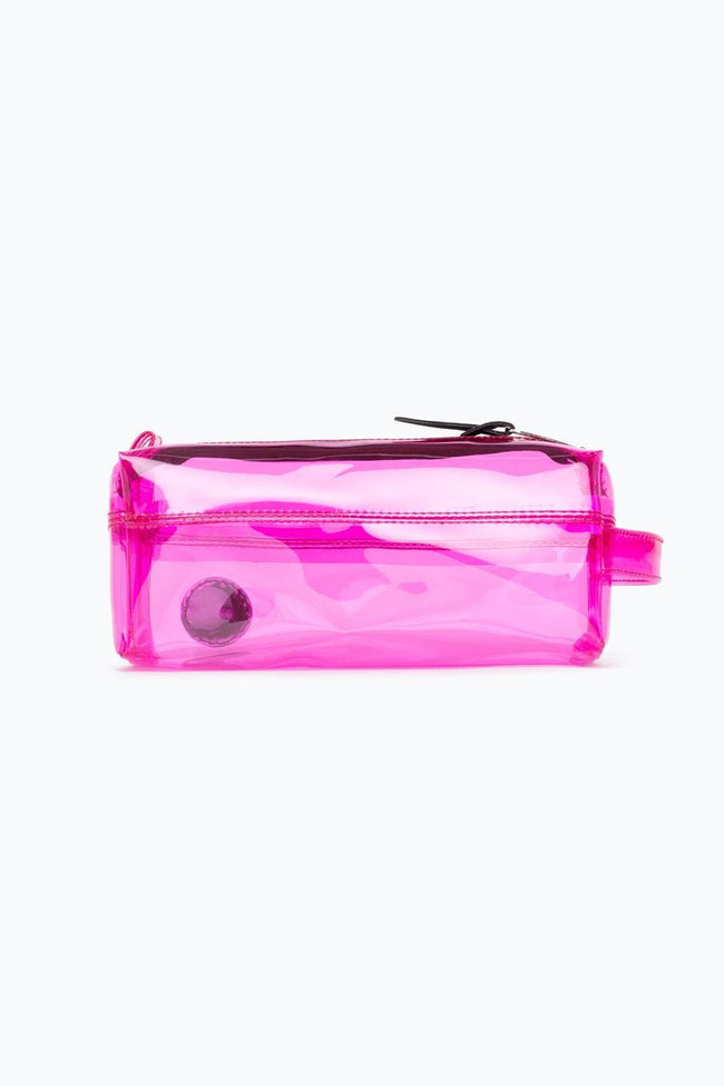 HYPE PINK TRANSPARENT PENCIL CASE