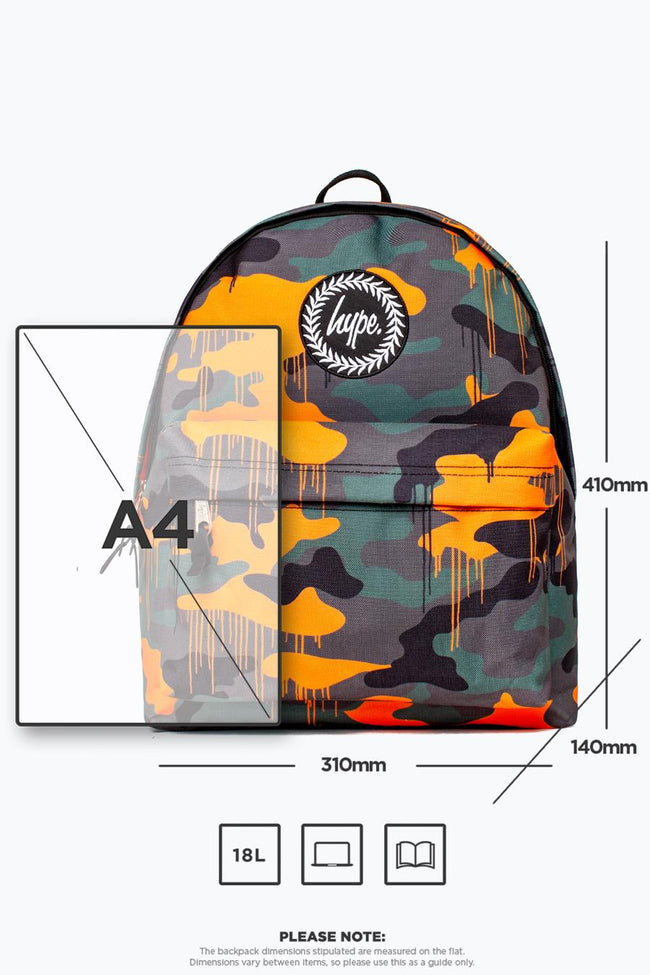 HYPE GREEN CAMO DRIPS BACKPACK