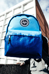 HYPE BLUE SPLATTER DRIPS BACKPACK
