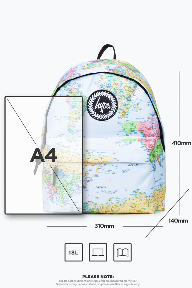 HYPE BLUE MAPS BACKPACK