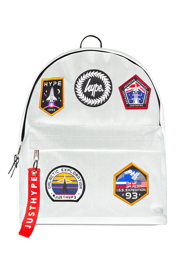 HYPE WHITE SPACE BADGES BACKPACK