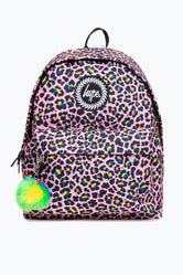 HYPE RAINBOW LEOPARD POM POM BACKPACK