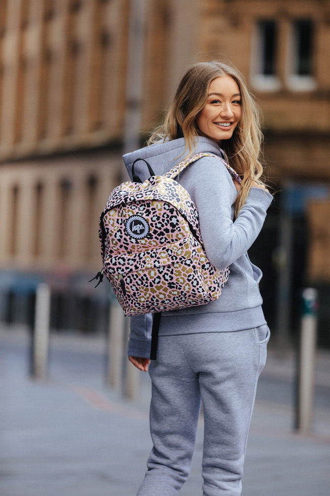 HYPE GLITTER LEOPARD BACKPACK