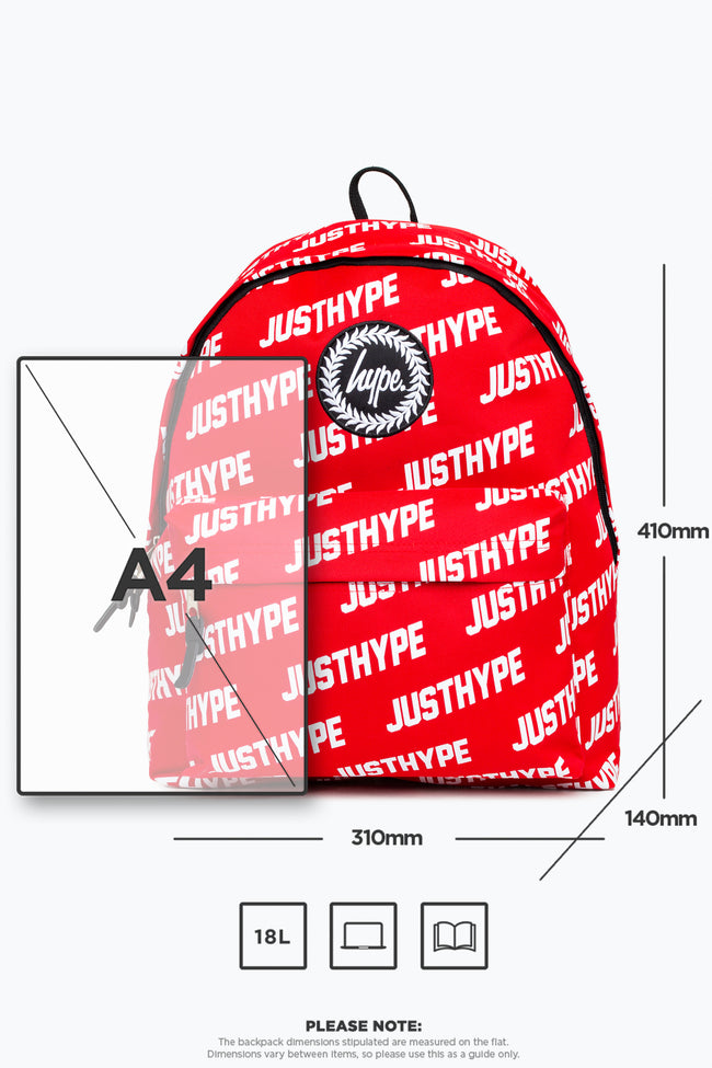 HYPE RED JUSTHYPE BACKPACK