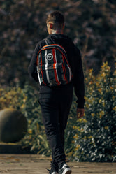 HYPE ORANGE STRIPE CAMO BACKPACK