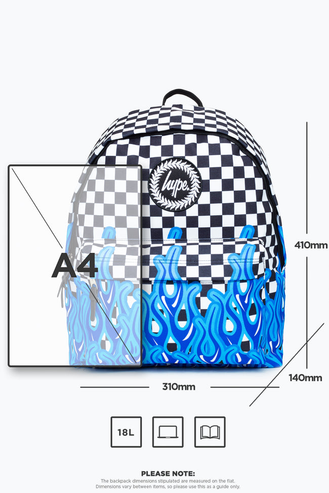 HYPE BLUE FLAME CHECK BACKPACK