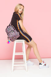 HYPE RAINBOW LEOPARD CROSS BODY BACKPACK