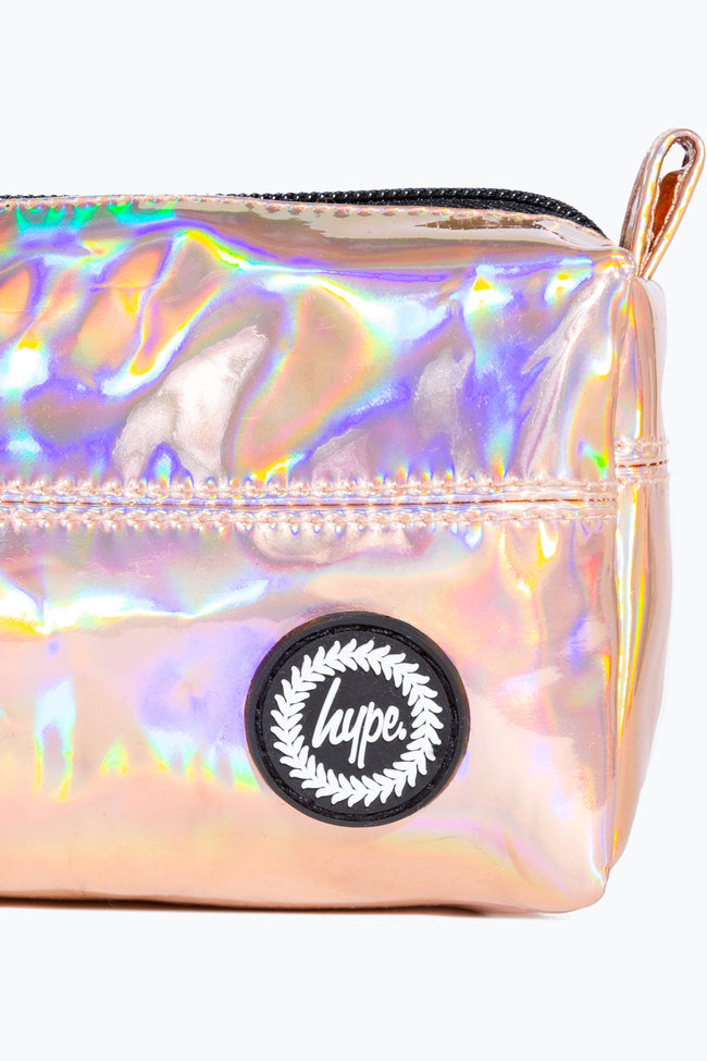 HYPE ROSE GOLD HOLOGRAPHIC PENCIL CASE