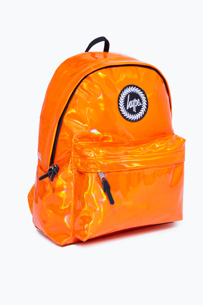 HYPE ORANGE HOLOGRAPHIC BACKPACK