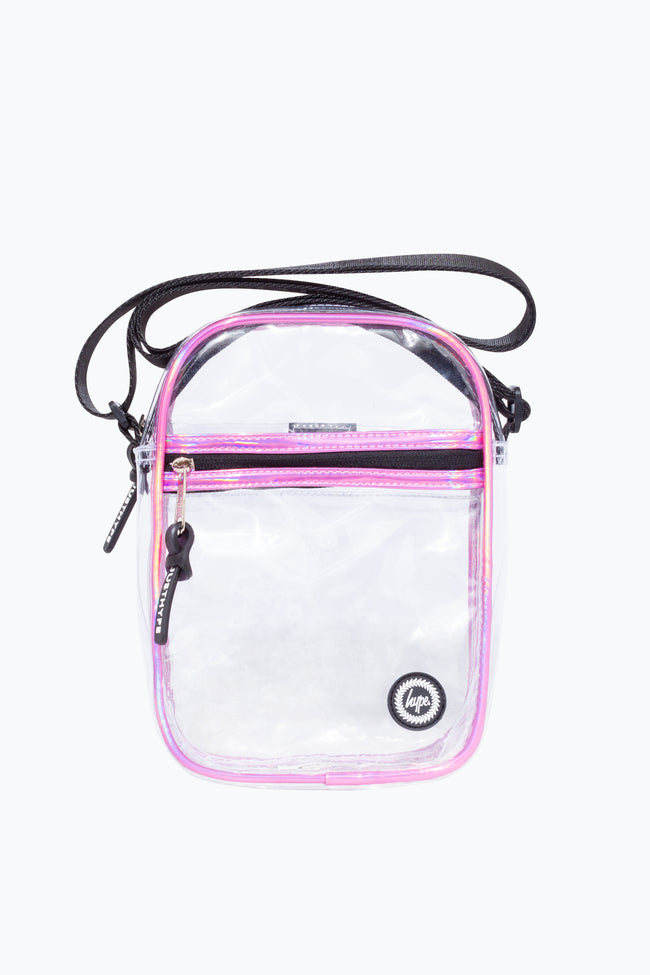 HYPE TRANSPARENT HOLO SIDE BAG