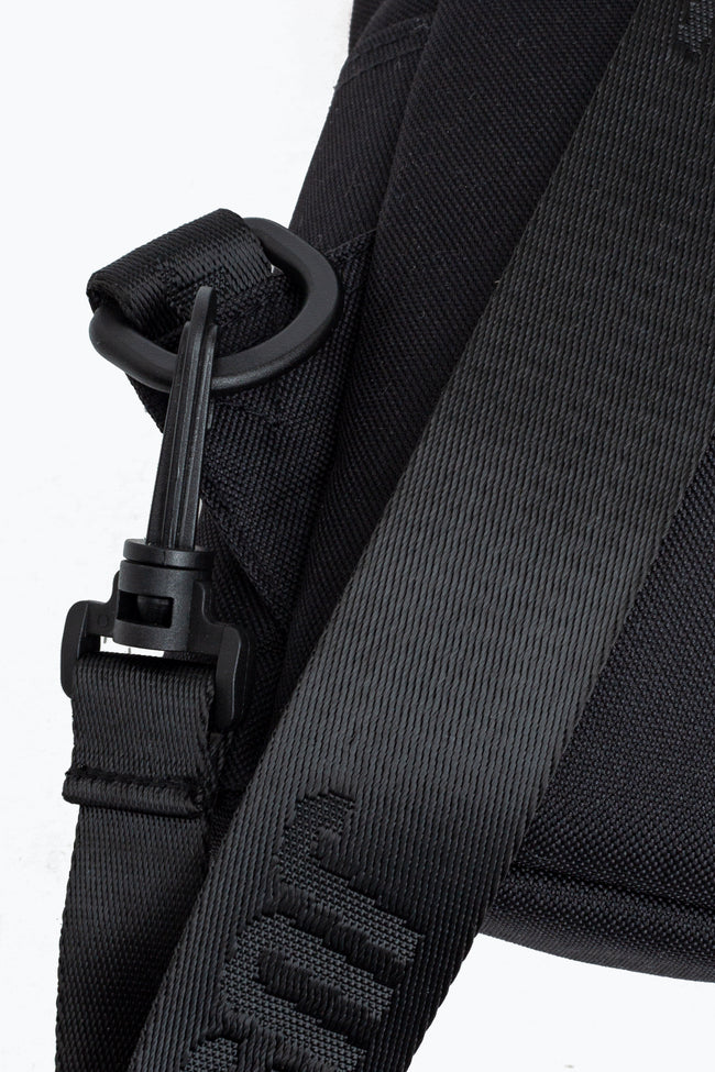 HYPE BLACK CROSS BODY BACKPACK
