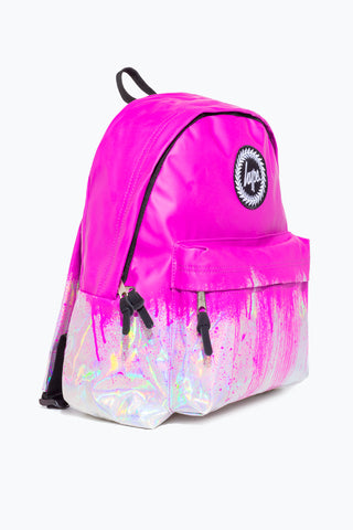 HYPE PINK HOLO DRIPS BACKPACK