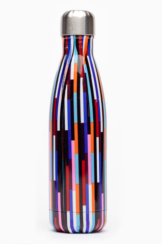 HYPE MULTI STRIPE METAL REUSABLE BOTTLE