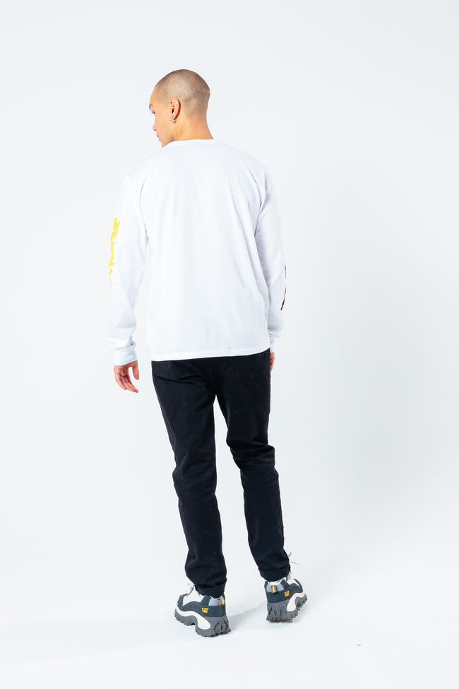 HYPE X BACK TO THE FUTURE WHITE LOGO L/S T-SHIRT