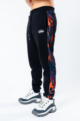 HYPE X BACK TO THE FUTURE BLACK FLAME JOGGERS