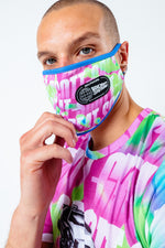HYPE X BACK TO THE FUTURE NEON LOGO REPEAT ADULT FACE MASK