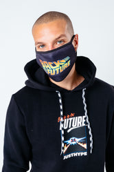 HYPE X BACK TO THE FUTURE BLACK LOGO ADULT FACE MASK
