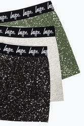 HYPE SPECKLE KIDS BOXER SHORTS X3 PACK