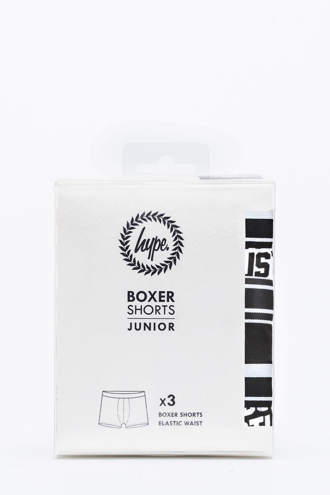 HYPE JUSTHYPE KIDS BOXER SHORTS X3 PACK