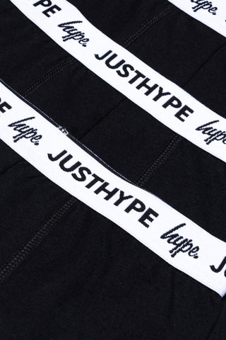 HYPE 3 PACK BLACK KIDS BOXER SHORTS