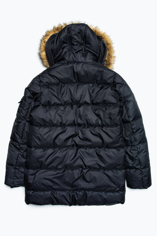 HYPE BLACK CREST PADDED KIDS EXPLORER JACKET