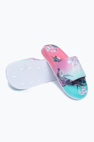 HYPE FLORAL FADE KIDS SLIDERS