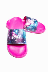 HYPE PINK GALACTIC KIDS SLIDERS