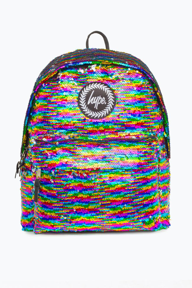 HYPE MULTI RAINBOW SEQUIN BACKPACK