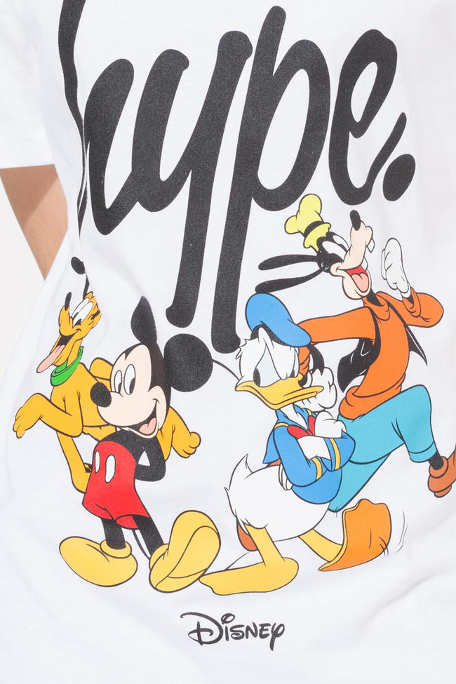 HYPE DISNEY WHITE SQUAD SCRIPT KIDS T-SHIRT