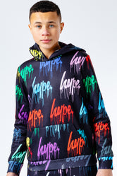 HYPE MULTI DRIPS REPEAT LOGO KIDS PULLOVER HOODIE