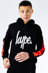 HYPE MONO HALF CAMO DRIPS PANEL KIDS PULLOVER HOODIE