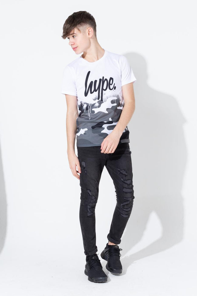 HYPE MONO CAMO DRIPS KIDS T-SHIRT