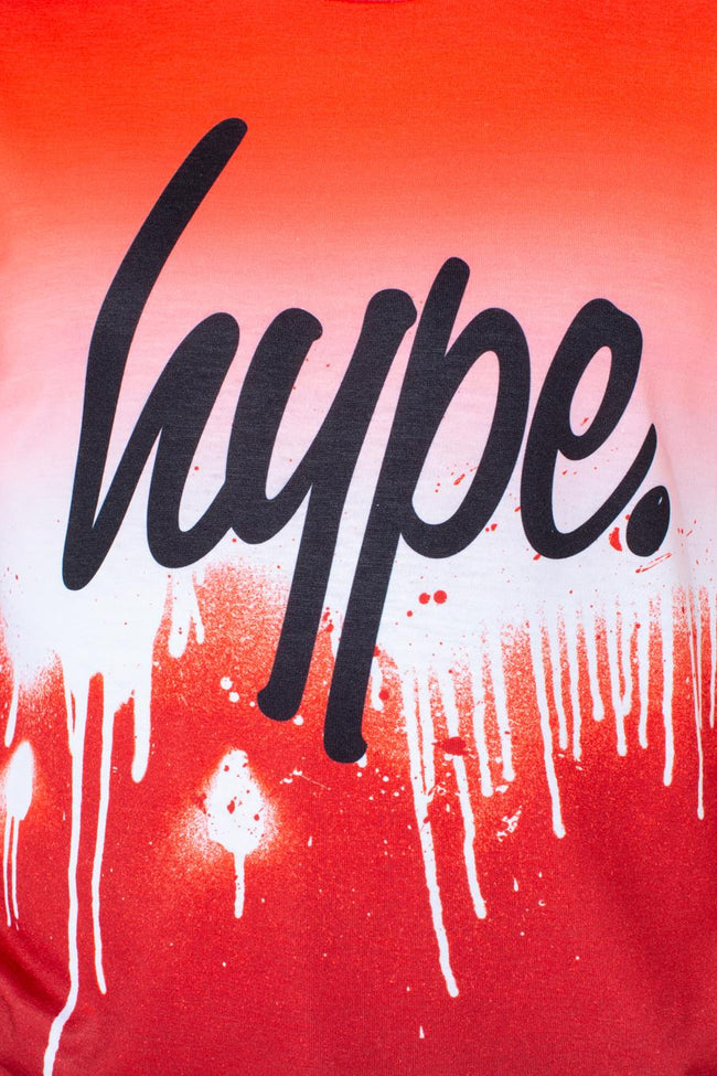 HYPE RED DRIP FADE KIDS T-SHIRT