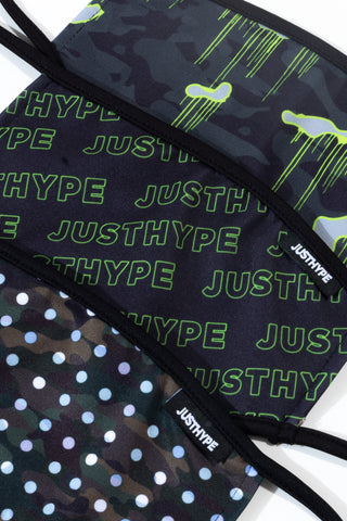 Hype 3X Adult Logo Drips Face Mask Set