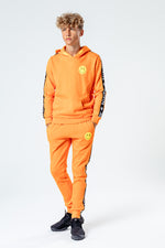 HYPE ORANGE TAPED KIDS TRACKSUIT SET