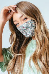 HYPE ADULT VINE FLORAL ADJUSTABLE FACE MASK