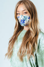 HYPE ADULT BLUE TROPICS ADJUSTABLE FACE MASK