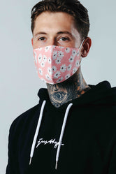 HYPE ADULT PINK DAISY ADJUSTABLE FACE MASK